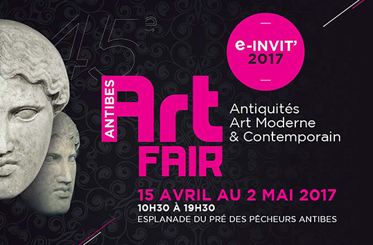 Antibes Art Fair<br>April 15 to May 2, 2017