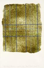 Pascal PINAUD 1995Papier adhésif,gel médium,crayon de couleur sur papier
